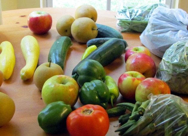 loving the harvest produce from local farms!